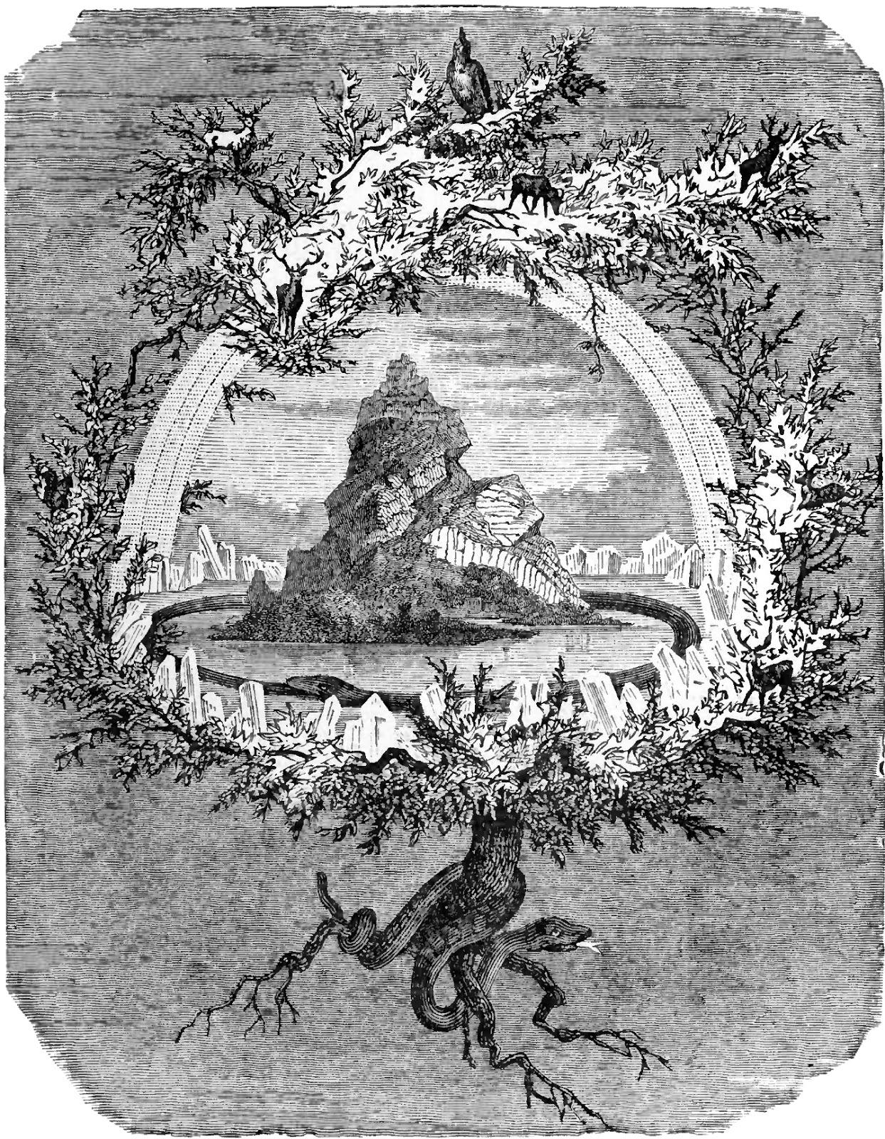 The Ash Yggdrasil.Friedrich Wilhelim Heina, 1886.